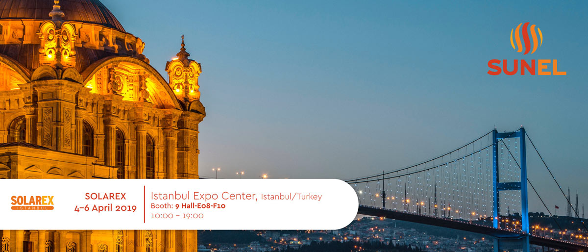 Solarex Istanbul in Istanbul Expo Center from 4-6 April - Sunel Group